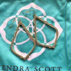 KS gold earrings. Only worn once!!